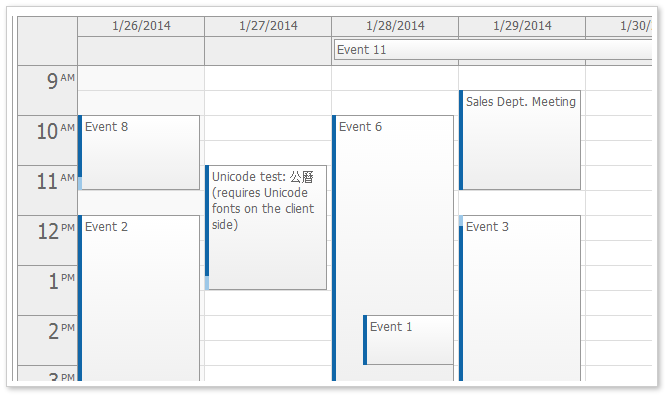 event calendar default css theme
