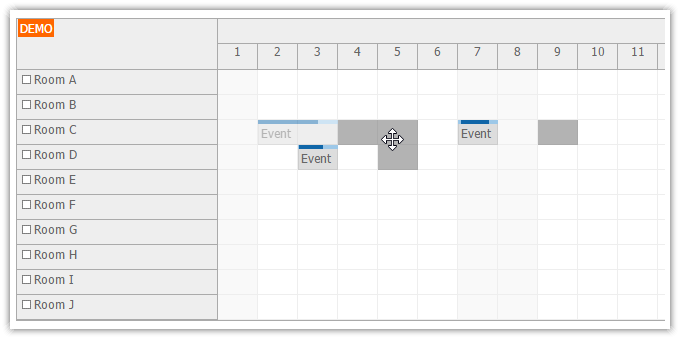 html5 scheduler moving multiple events