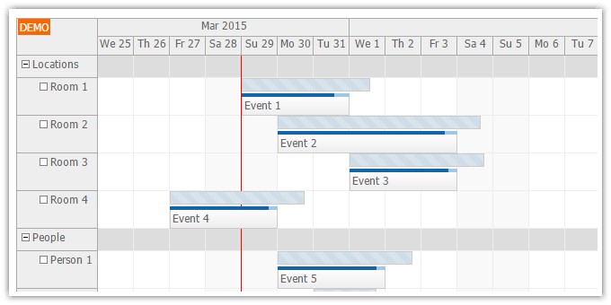 javascript scheduler event versions