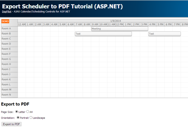 scheduler pdf export tutorial