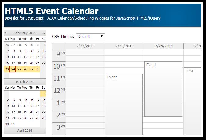 tutorial html5 event calendar open source daypilot news html5 calendar scheduler and. Black Bedroom Furniture Sets. Home Design Ideas