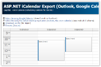 Tutorial: ASP.NET iCalendar Export (Outlook, Google Calendar, Mac OS X Calendar)