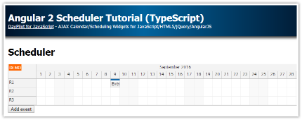 Tutorial: Angular 2 Scheduler (TypeScript, PHP)