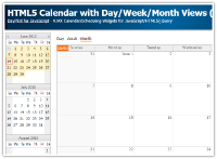 Tutorial: HTML5 Event Calendar with Day/Week/Month Views (Javascript, PHP)