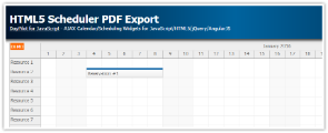 Tutorial: HTML5 Scheduler PDF Export (JavaScript)