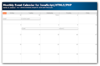 Monthly Event Calendar for JavaScript (PHP Tutorial)