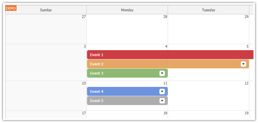 react monthly calendar tutorial