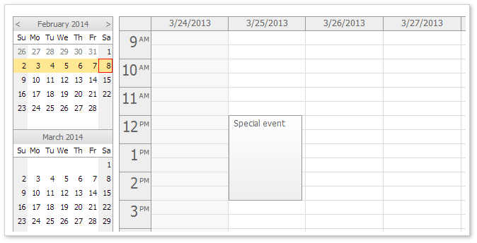 Weekly Calendar Using Javascript : Daypilot news march